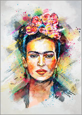 Självhäftande poster  Frida Flower Pop - Tracie Andrews