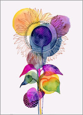 Självhäftande poster  Sunflower abstract - Janet Broxon