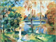 Premiumposter Landscape with bathers
