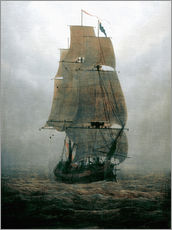 Självhäftande poster  Sailing ship in the fog - Caspar David Friedrich