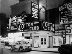 Självhäftande poster  Cotton Club i Harlem, New York