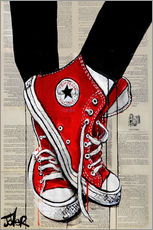 Självhäftande poster  Not without my red shoes - Loui Jover