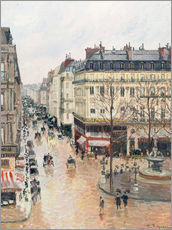 Självhäftande poster  The Rue Saint-Honoré in the afternoon - Camille Pissarro