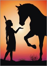 Galleritryck  Horse whisperer - Kidz Collection