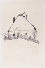 Galleritryck  House with Bell Tower - Egon Schiele