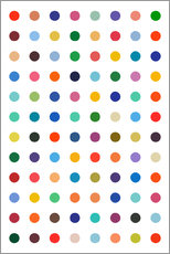 Galleritryck  Damien Tribute - Colourful polkadots - THE USUAL DESIGNERS