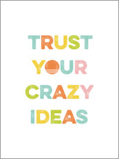 Självhäftande poster  Think crazy ideas - Typobox