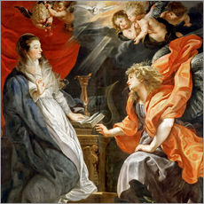 Galleritryck  Annunciation to Mary - Peter Paul Rubens