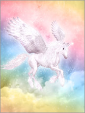Självhäftande poster  Unicorn Pegasus - Big Dreams - Dolphins DreamDesign