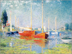 Akrylglastavla  Red Boats at Argenteuil - Claude Monet
