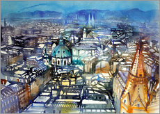 Galleritryck  Vienna View from St. Stephen's Cathedral - Johann Pickl