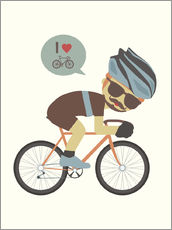Galleritryck  I love cycling - Kidz Collection