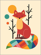 Galleritryck  Rainbow Fox - Andy Westface