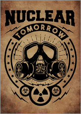 Galleritryck  nuclear tomorrow vintage - Durro Art