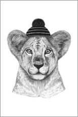Galleritryck  Lion child with cap - Valeriya Korenkova