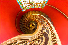 Galleritryck  Spiral staircase in Brittany