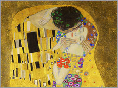 Galleritryck  The kiss (detail) - Gustav Klimt