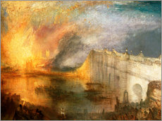 Självhäftande poster  The Burning of the Houses of Lords and Commons - Joseph Mallord William Turner
