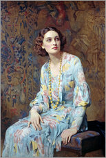Galleritryck  Portrait of a Lady - Albert Henry Collings