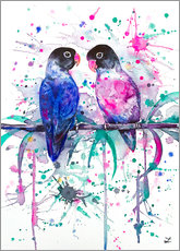 Galleritryck  Love is in the air! Lovebirds - Zaira Dzhaubaeva