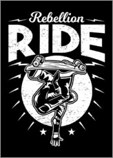 Självhäftande poster  Rebellion Ride - Durro Art
