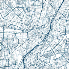 Galleritryck  City map of Munich - 44spaces