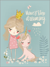 Canvastavla  Never stop dreaming - Kidz Collection