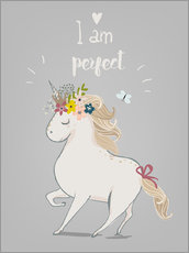 Självhäftande poster  Perfect little unicorn - Kidz Collection