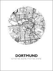 Självhäftande poster  City map of Dortmund - 44spaces