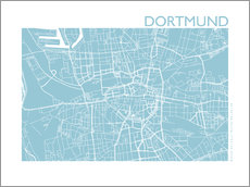 Galleritryck  City map of Dortmund - 44spaces