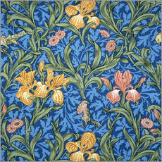 Självhäftande poster  Iris - William Morris