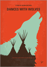 Galleritryck  No949 My Dances with Wolves minimal movie poster - chungkong