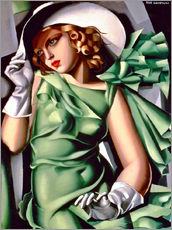 Galleritryck  Young lady with gloves - Tamara de Lempicka