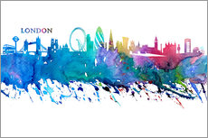 Självhäftande poster  Skyline LONDON Colorful Silhouette - M. Bleichner