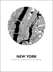 Galleritryck  City map of New York - 44spaces