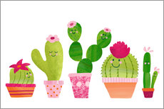 Galleritryck  Cactuses in the pot - Sandy Thißen