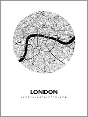 Galleritryck  City map of London - 44spaces