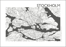 Galleritryck  City map of Stockholm - 44spaces