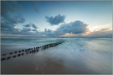 Galleritryck  Groyne in the evening on Sylt (long exposure) - Heiko Mundel