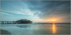 Galleritryck  Sunset at the beach bar 54Grad in St.Peter-Ording - Heiko Mundel