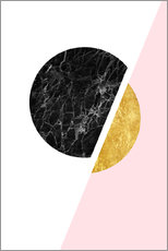 Galleritryck  Scandinavian composition with marble and gold - Radu Bercan