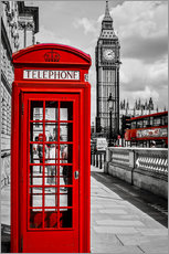 Galleritryck  London telephone box and Big Ben - Art Couture