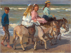 Galleritryck  To ride a donkey - Isaac Israels