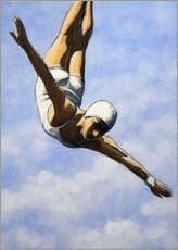 Premiumposter  Diver in the clouds II - Sarah Morrissette