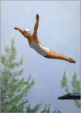 Premiumposter  Diver with trees - Sarah Morrissette