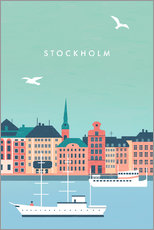 Poster  Stockholm Illustration - Katinka Reinke