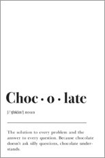 Premiumposter  Chocolate Definition - Pulse of Art