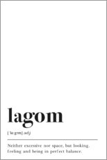 Premiumposter Lagom Definition