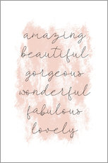 Poster  Amazing Empowering Quote - Martina illustration