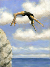 Poster  Jumping from a rock - Sarah Morrissette